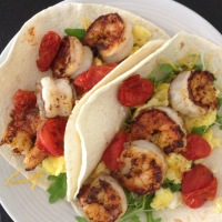 Spicy Shrimp Breakfast Tacos