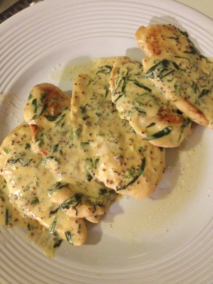 Chicken with Dijon Tarragon Cream Sauce