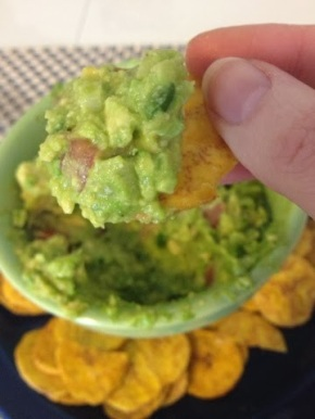 Guac with Plantain Chips