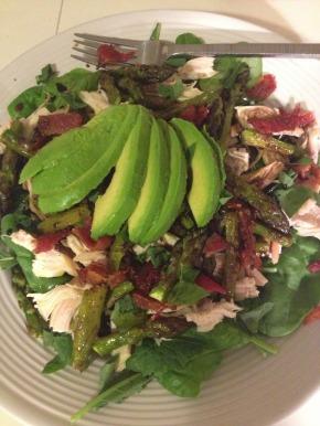 Chicken, Bacon, Avocado, & Roasted AsparagusSalad