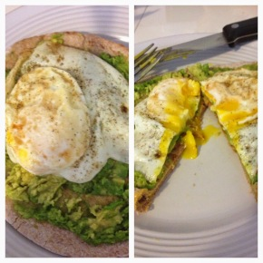 Avocado and Egg BreakfastPizza