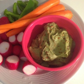 Snickity Snack: Avocado White Bean Dip