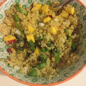 Quinoa with Nectarine and Basil