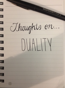thoughts on...duality