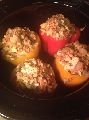 Sausage and Cauliflower Stuffed Peppers