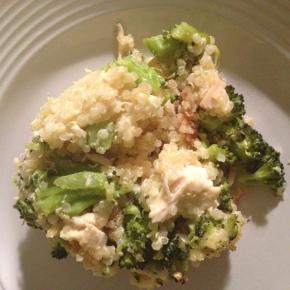 Chicken Broccoli and Cheese QuinoaCasserole