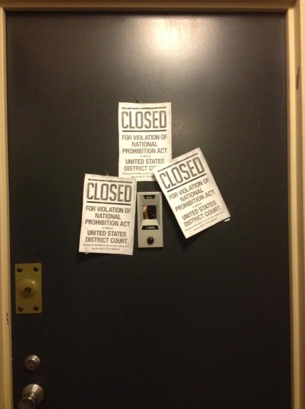 prohibition door