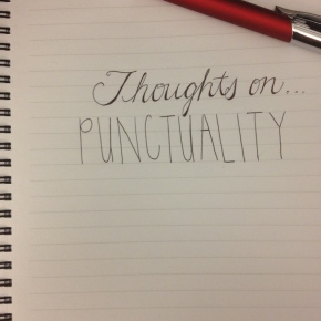 Thoughts On…Punctuality (Prompt)