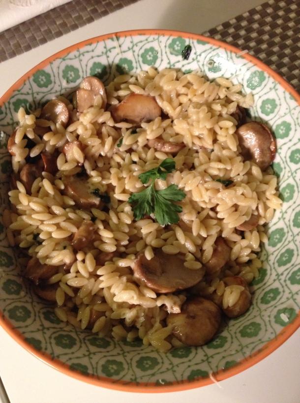 truffle mushroom orzo