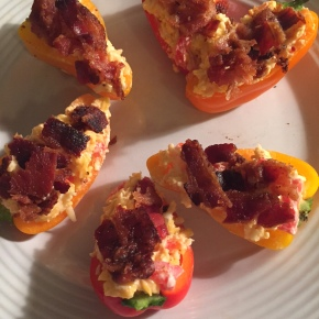 Pimento Cheese Stuffed Peppers with Bacon