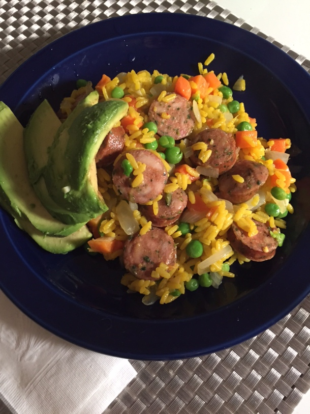 arroz con pollo sausage