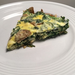 Kale and Chicken Sausage Frittata