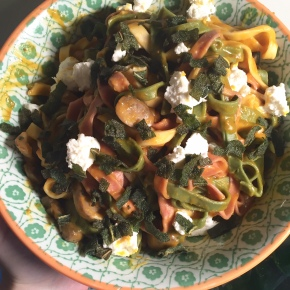 Seasonal Tastes: December – Pasta with Pumpkin Sauce