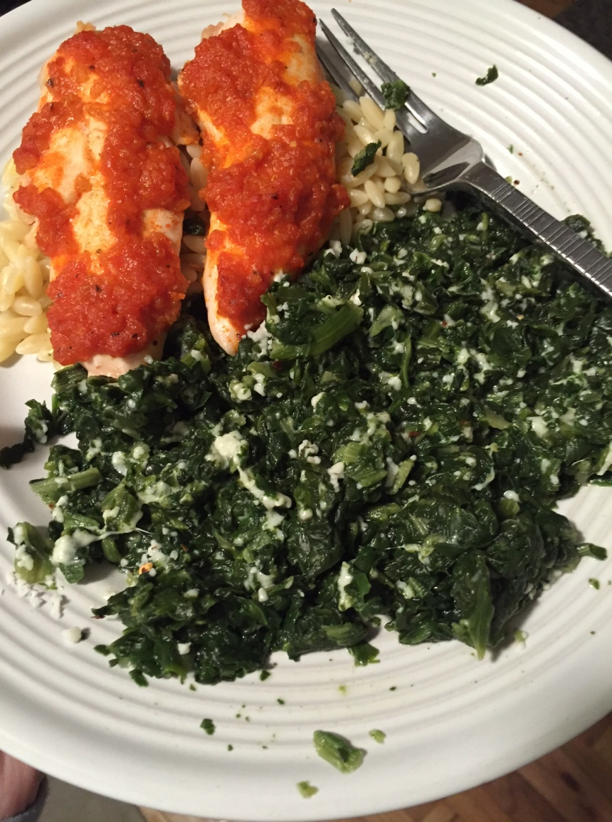 spinach with cotija cheese