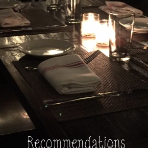 Recommendations: The Group BirthdayDinner