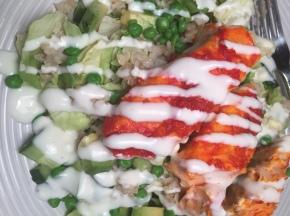 Salad with Salmon, Peas, andRice