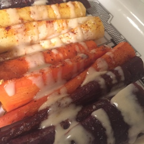 Roasted Carrots with Tahini