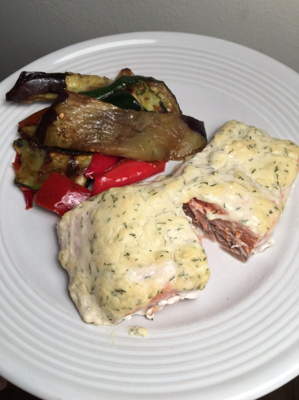 salmon with sour cream sauce2
