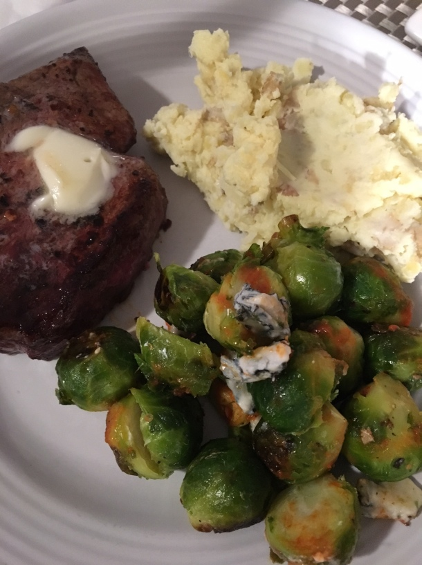 buffalo brussels sprouts with blue cheese3