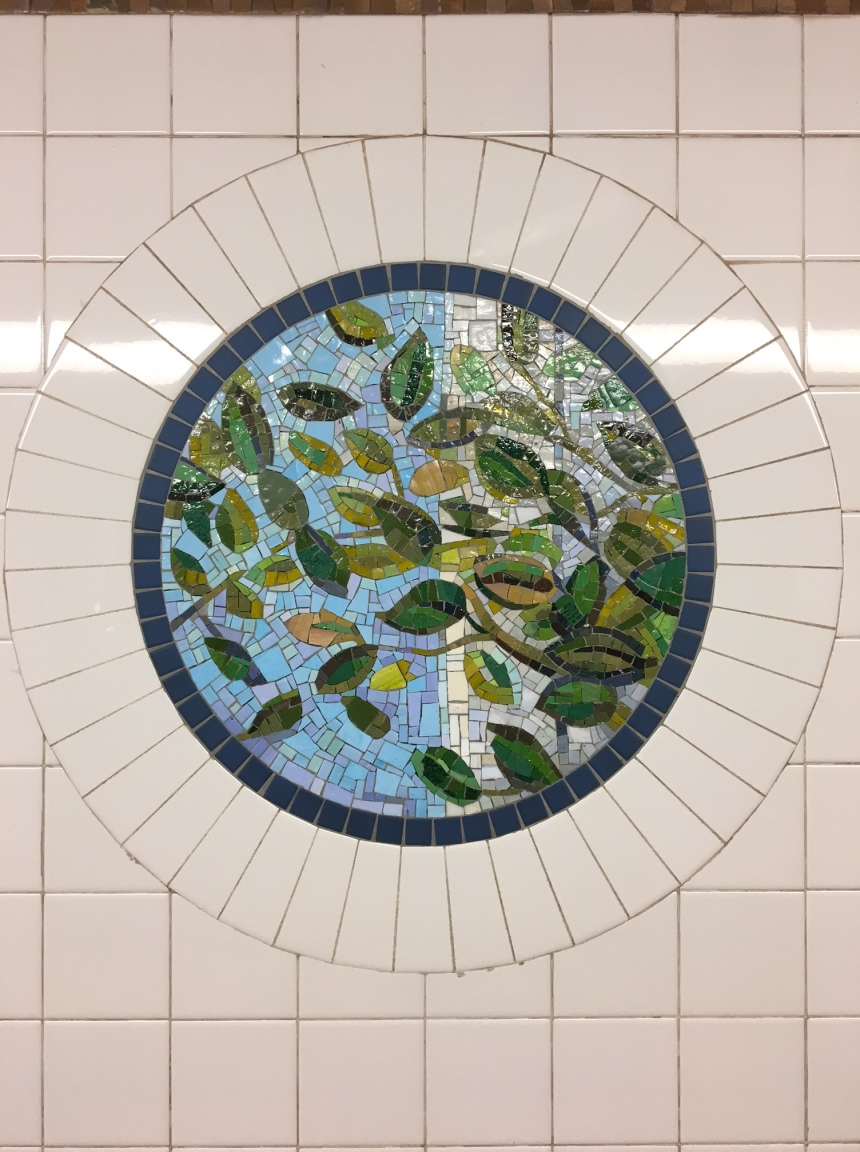 subway tile art