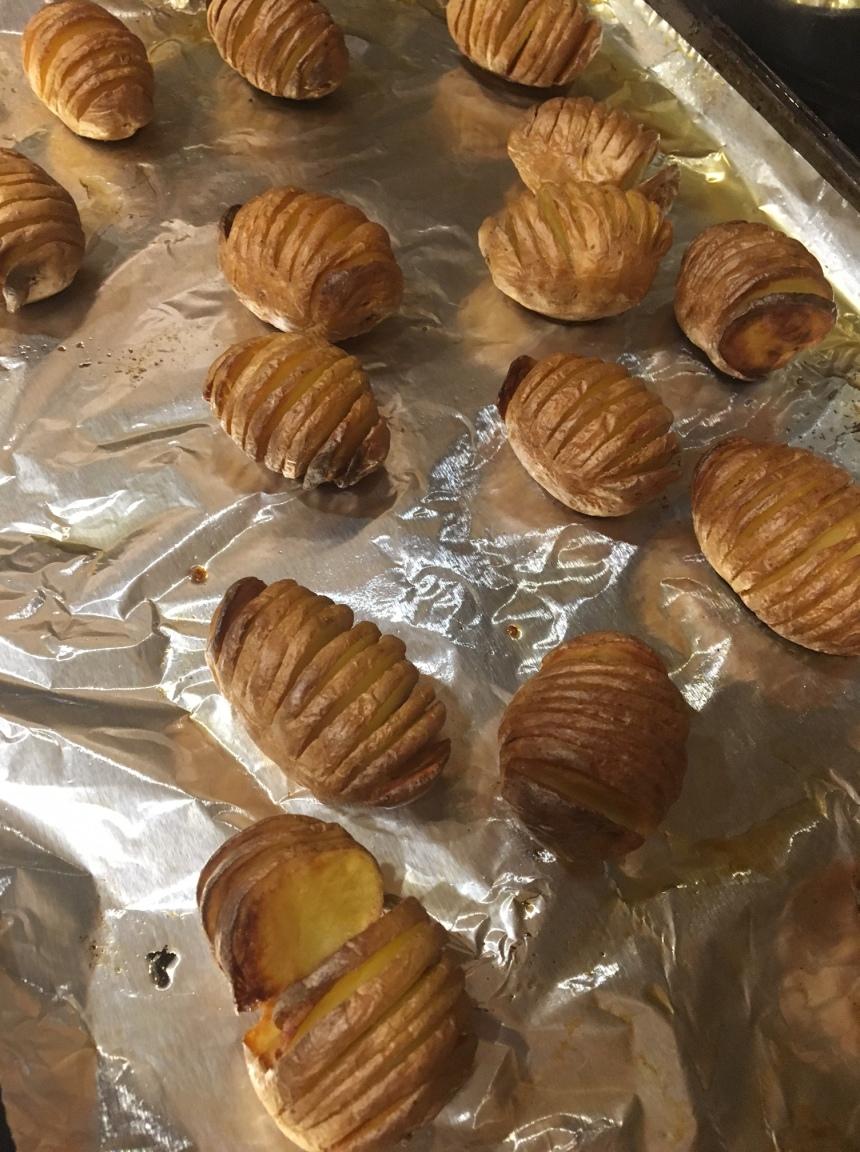 thanksgiving - hasselback potatoes