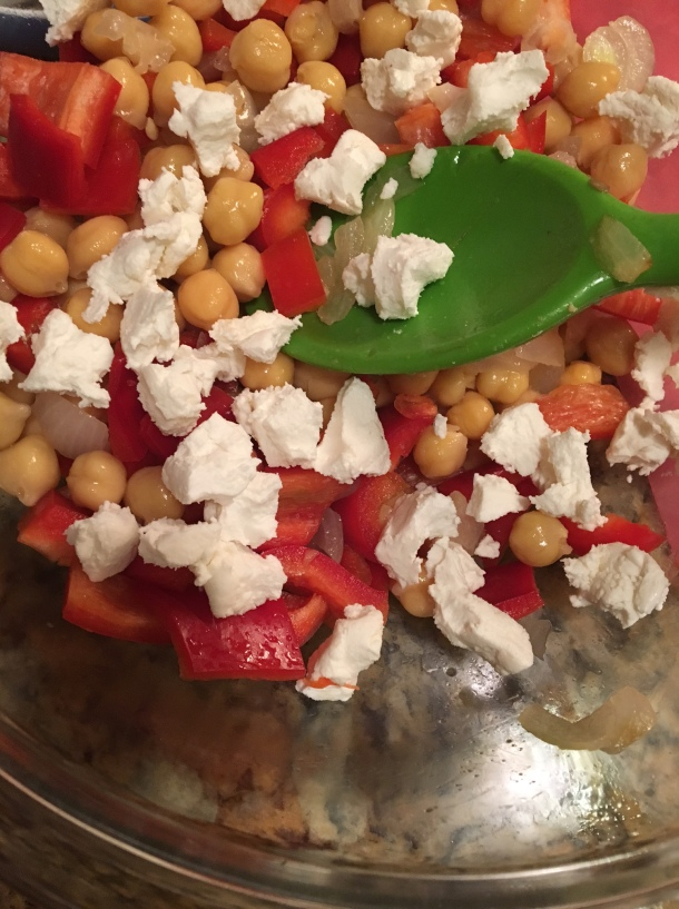 chickpea goat cheese salad2
