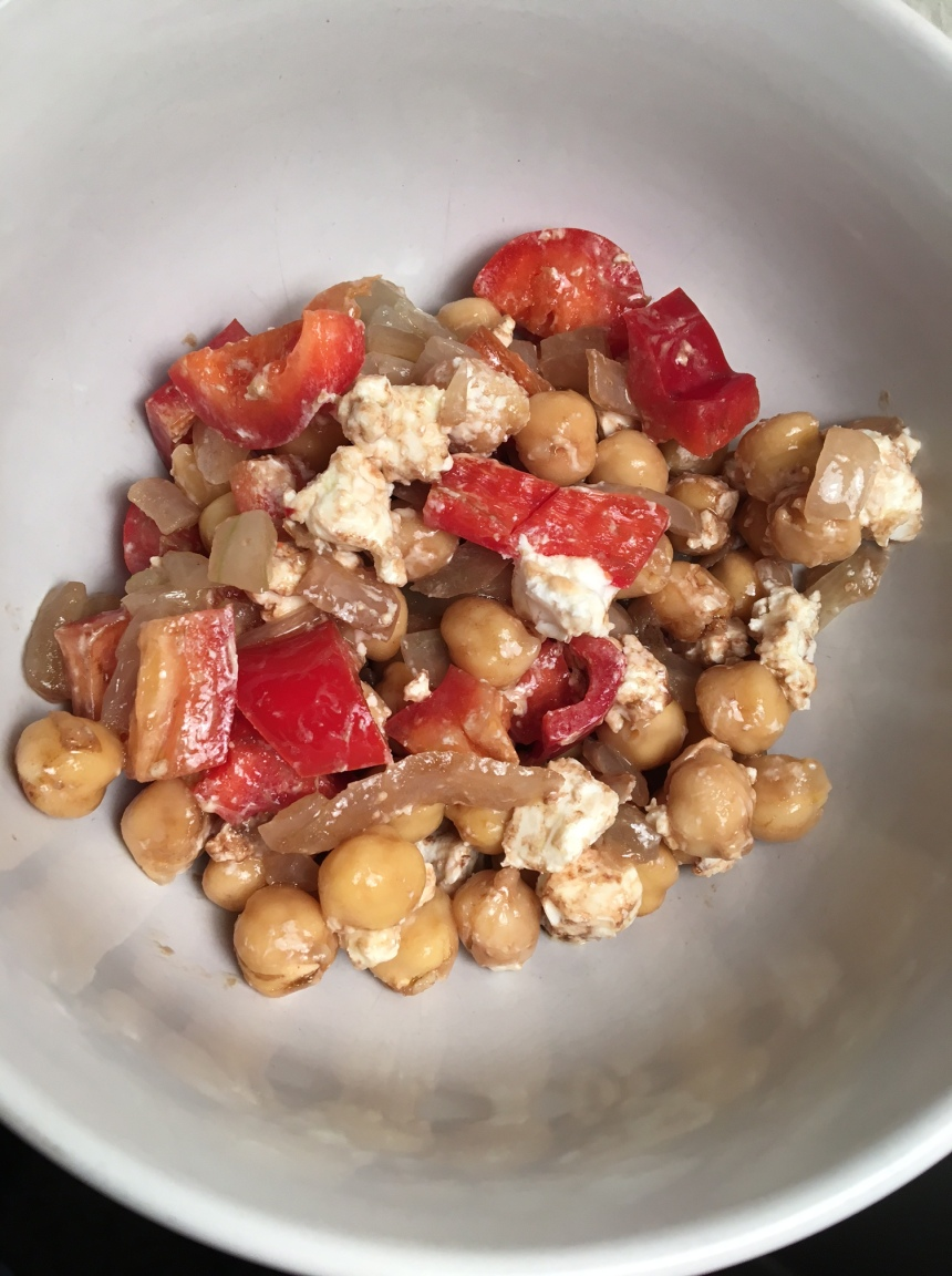 chickpea goat cheese salad3