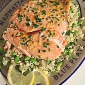 Salmon and Lemon Herb CauliflowerRice