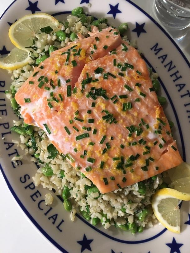 salmon and cauliflower rice3