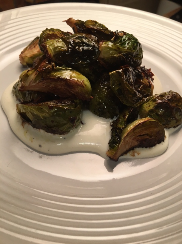 honey chili brussels sprouts with whipped ricotta5