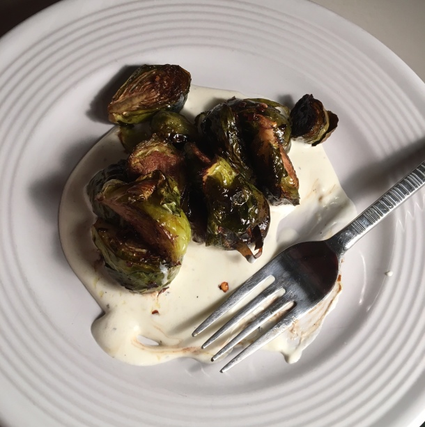 honey chili brussels sprouts with whipped ricotta7