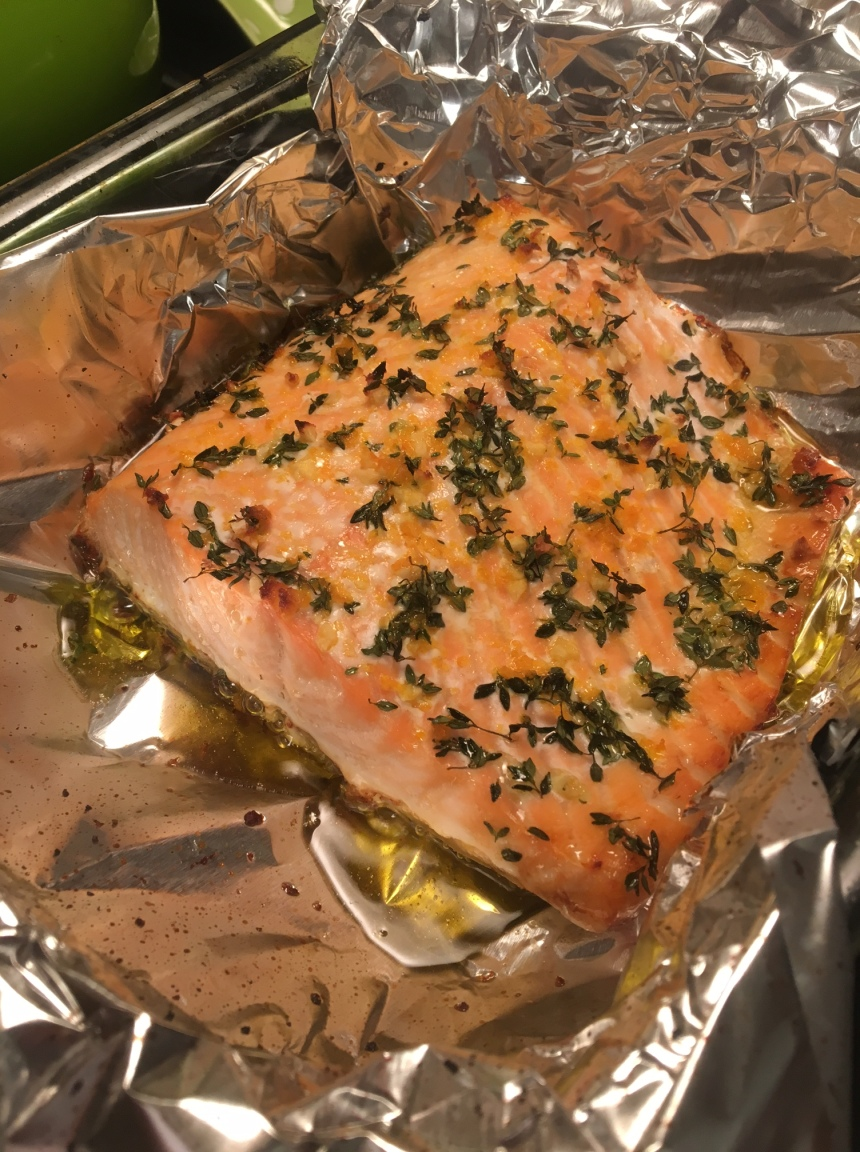 salmon with orange and thyme2