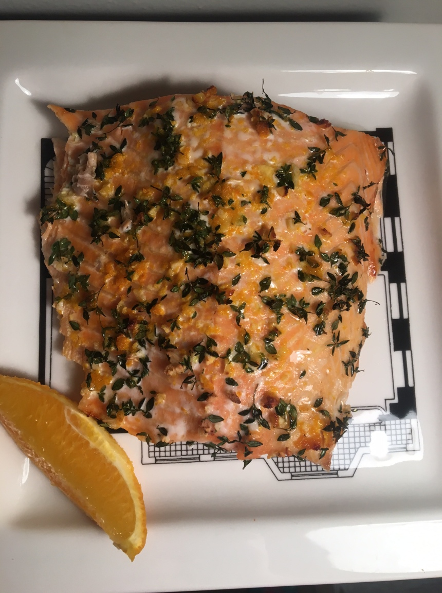 salmon with orange and thyme3