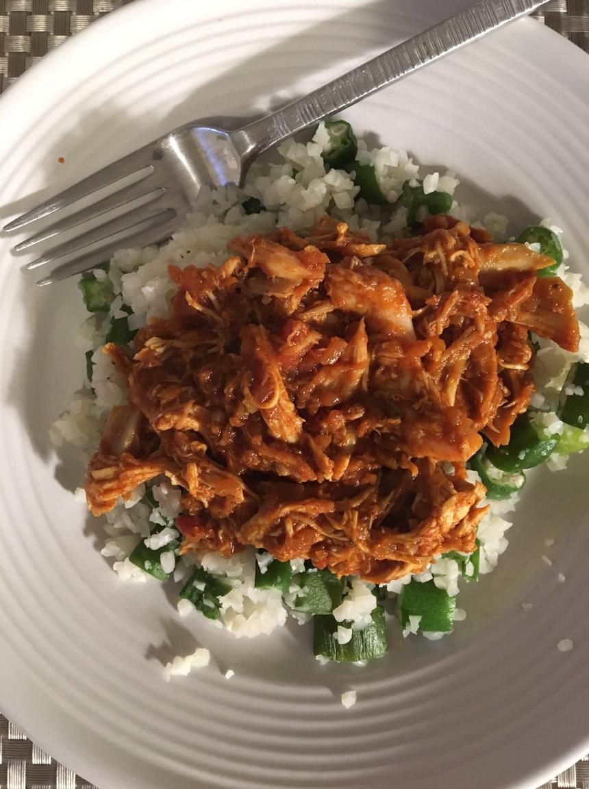 curry chicken wih okra cauliflower rice3