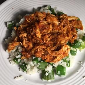 Curry Chicken wih Okra CauliflowerRice