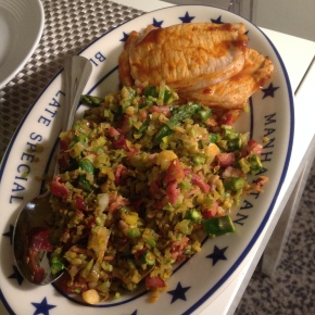 Seasonal Tastes: April 2017 – Springtime Broccoli Rice