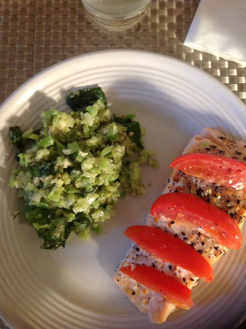 broccoli rice and basil salad5