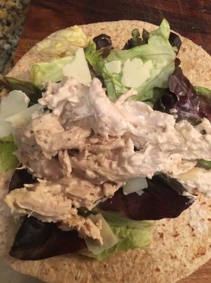 slow cooker chicken caesar wrap3