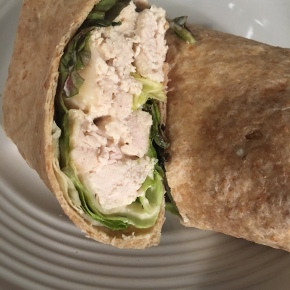 Slow Cooker Chicken Caesar Wrap