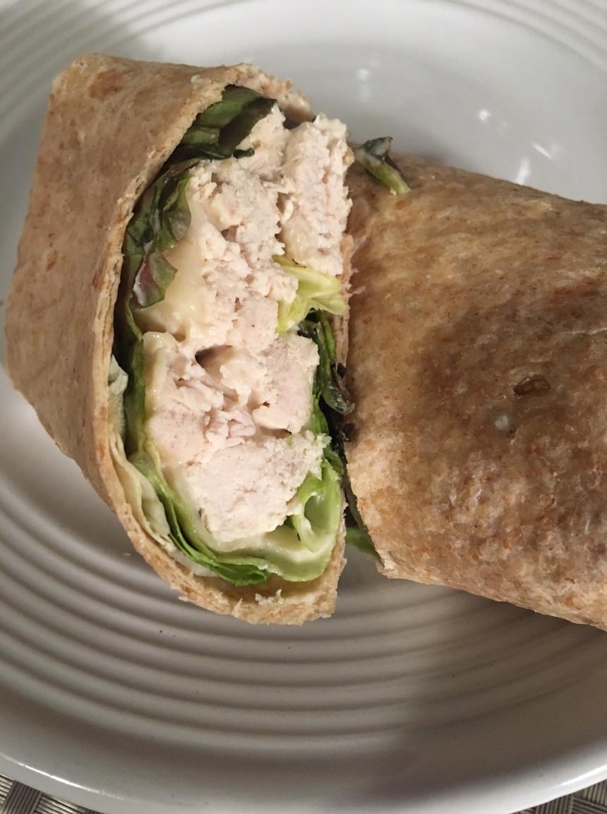 slow cooker chicken caesar wrap5