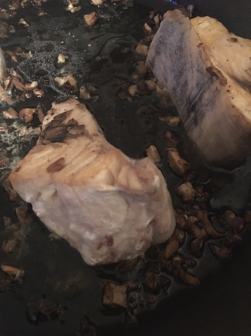 swordfish with shiitakes and truffle oil2