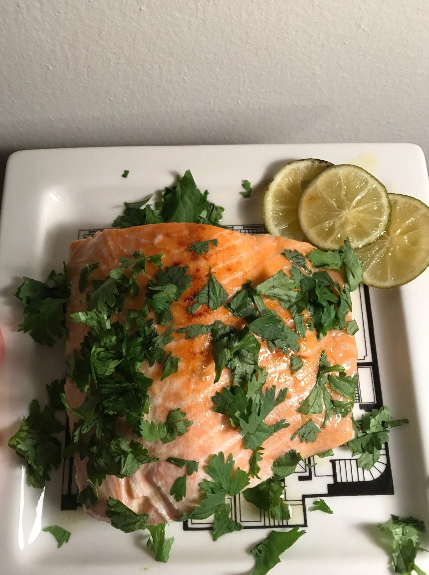 honey cilantro lime salmon5