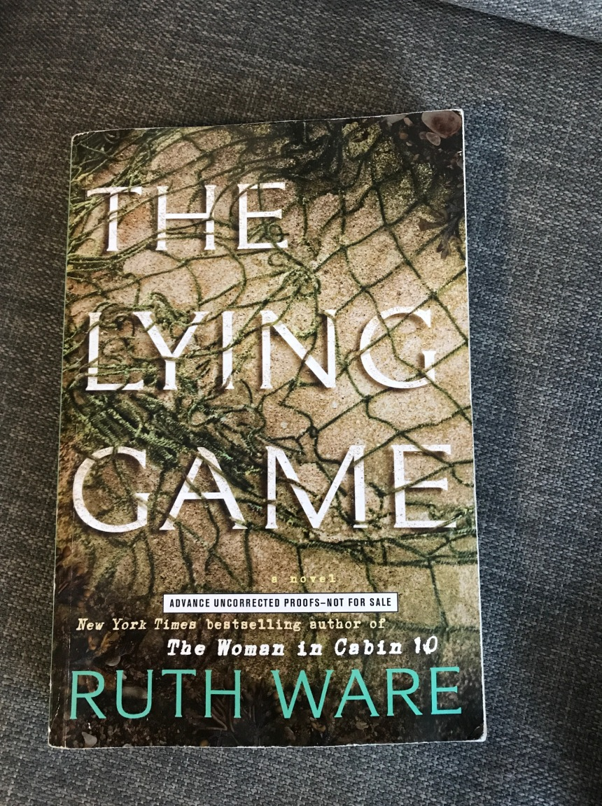 reading list - park bench - the lying game