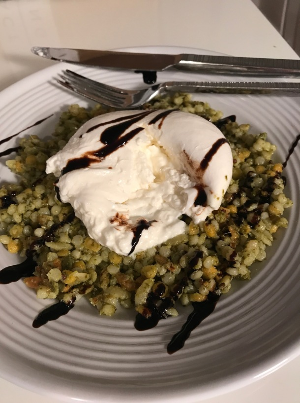 Israeli Cous Cous with Pesto and Burrata3