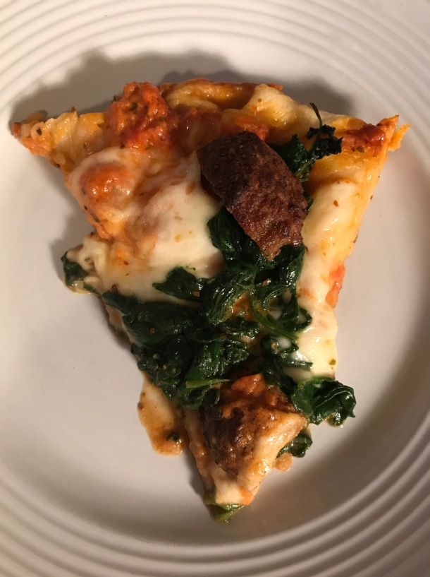 meatball spinach skillet pizza5