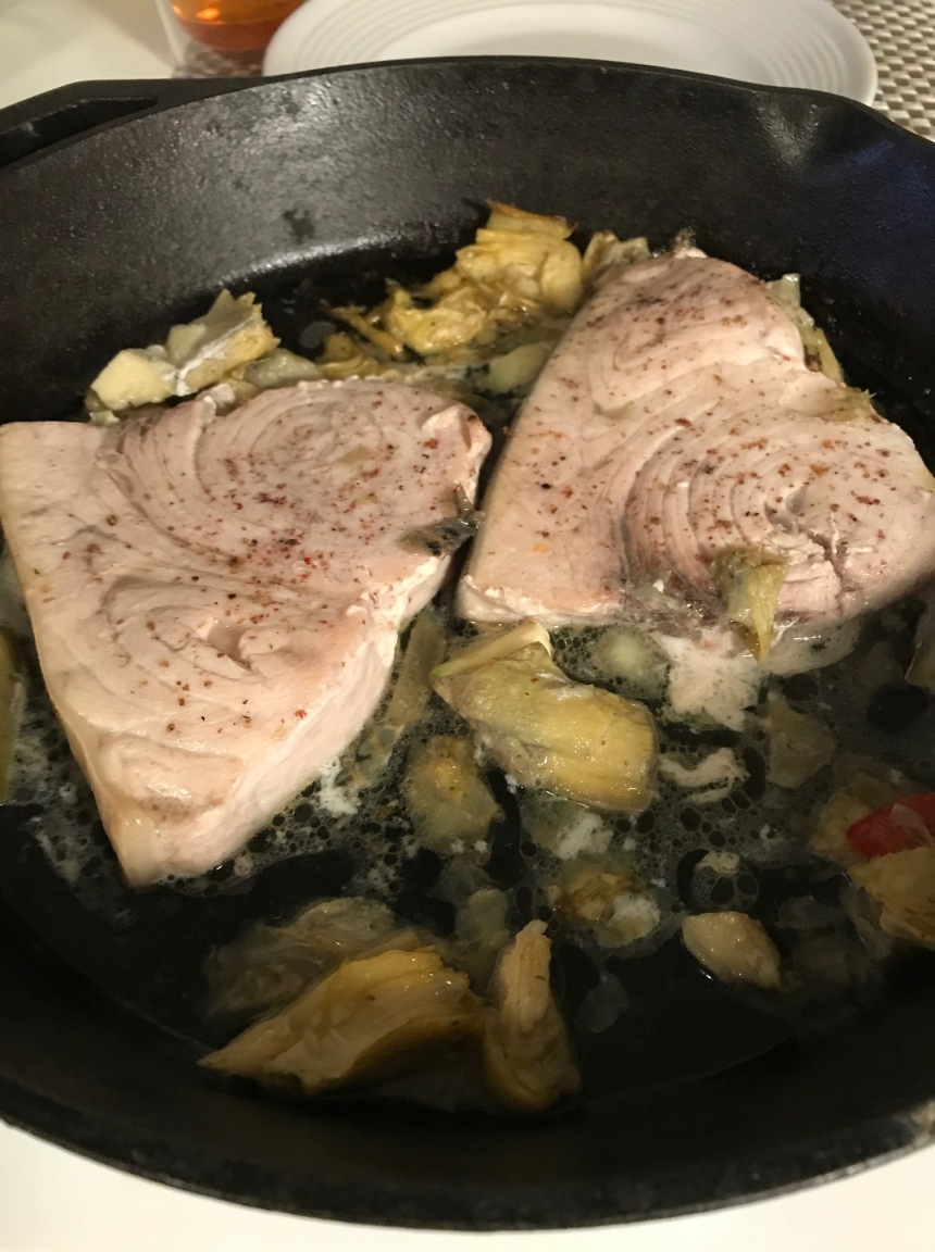 swordfish with artichokes4
