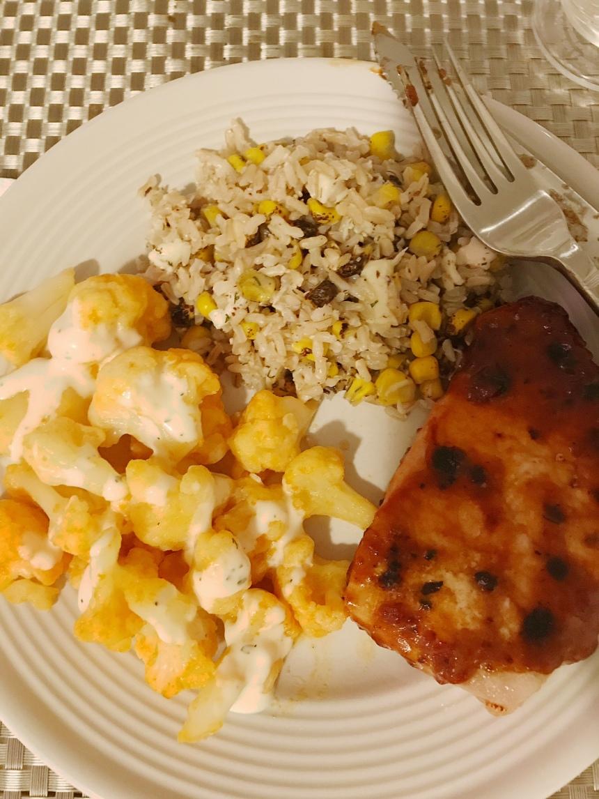 brown rice with mozzarella and corn3