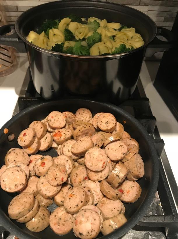 chicken sausage and tortellini1