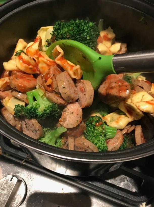 chicken sausage and tortellini2