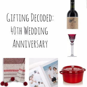 Gifting: Decoded – 40th Wedding Anniversary